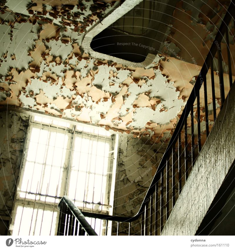 Old Colour Life Window Room Time Stairs Gloomy Living or residing Transience Derelict Decline Banister Destruction Memory Location