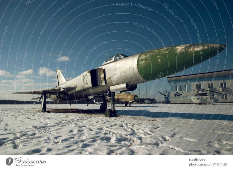 Jet Snow Sky Speed Old Grief Distress Colour Aviation Airplane Fighter Blue