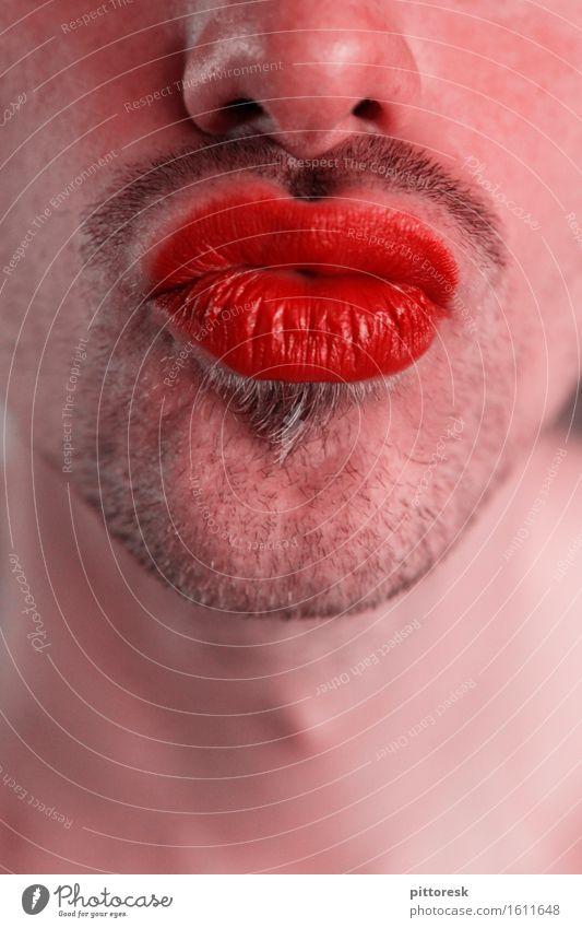 pout Art Work of art Esthetic Kissing Pout Lips Lipstick Lip care Cosmetics Masculine Father's Day Facial hair Beard hair Stubble Designer stubble Eroticism