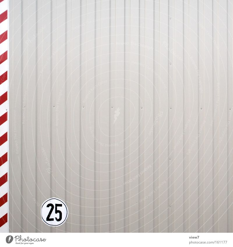 Red Gray Metal Line Background picture Facade Signs and labeling Arrangement Beginning Fresh Modern Esthetic Authentic Stripe Signage Digits and numbers
