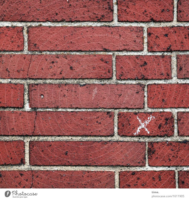 inconspicuous detail | x for insiders Manmade structures Building Wall (barrier) Wall (building) Mortar Stone Brick Sign Crucifix Line Sharp-edged Happiness