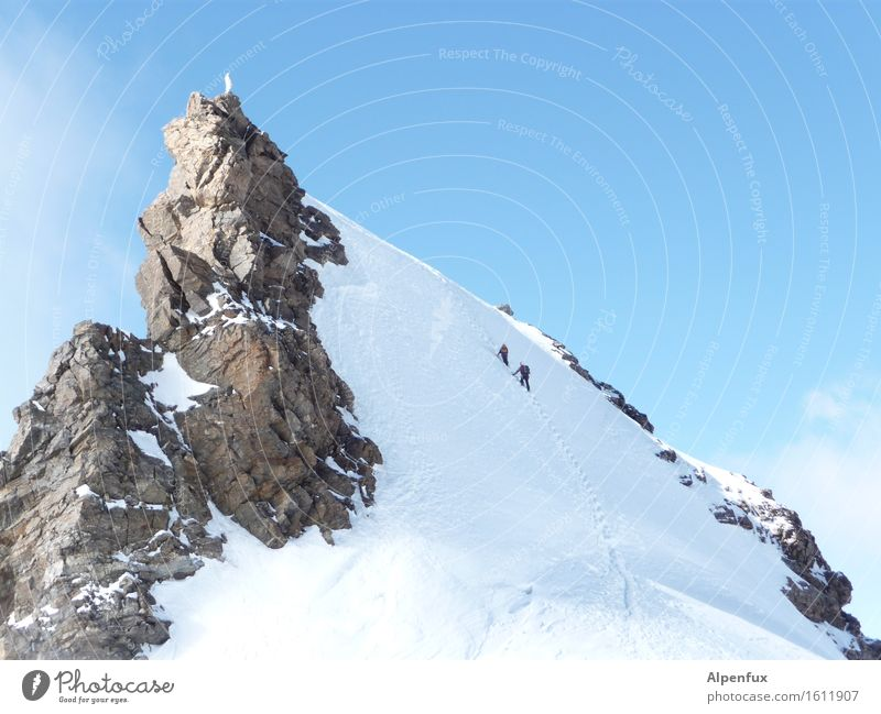 Winter Mountain Snow Rock Dream Ice Hiking Power Success Beautiful weather Adventure Peak Hill Frost Alps Attachment
