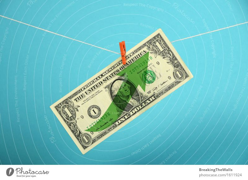 American economy growth, strengthening of US dollar Money Economy Financial Industry Business Rope Dollar symbol Hang Growth Strong Blue Green Power USA up