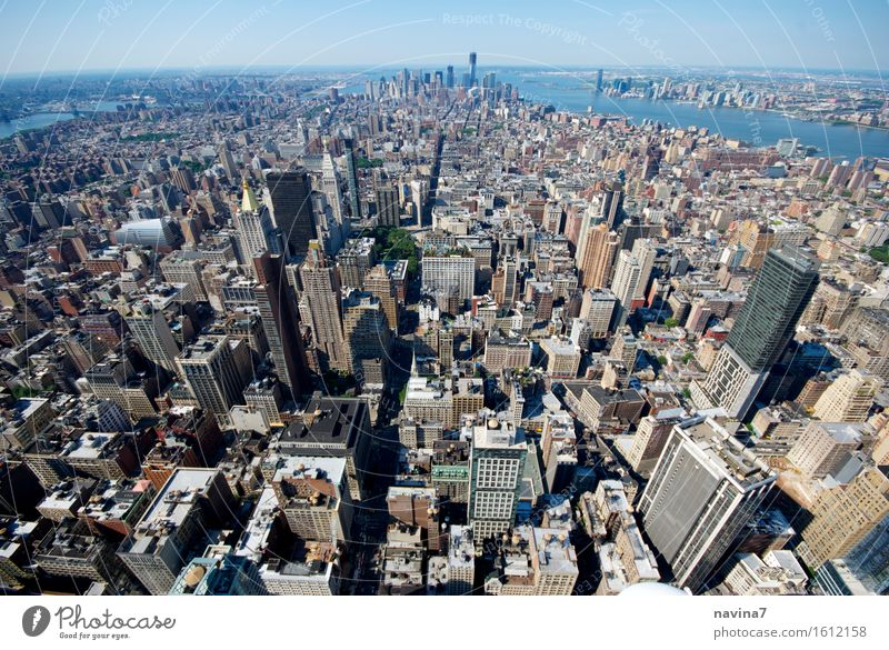 new york New York City Build Living or residing Infinity Growth raw Colour photo Exterior shot Aerial photograph Deserted Bird's-eye view Wide angle