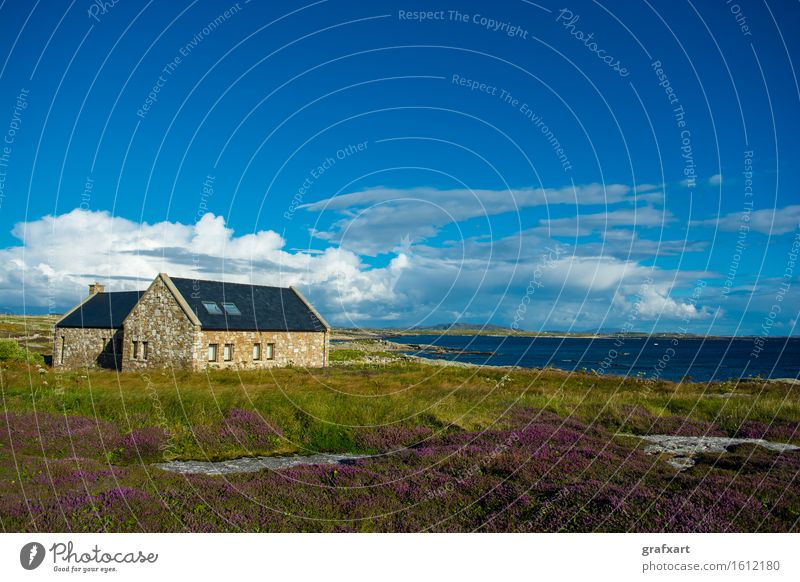 Nature Vacation & Travel Summer Ocean Relaxation Landscape Loneliness Clouds Calm House (Residential Structure) Beach Travel photography Coast