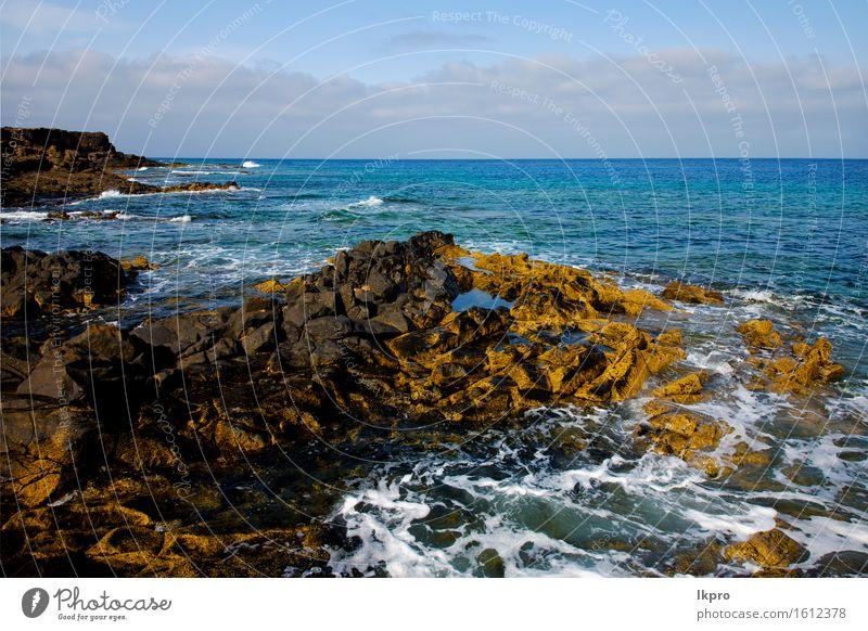 spain landscape stone sky cloud beach Sky Nature Vacation & Travel Plant Summer Ocean Landscape Clouds Beach Black Coast Stone Sand Rock Tourism Dirty