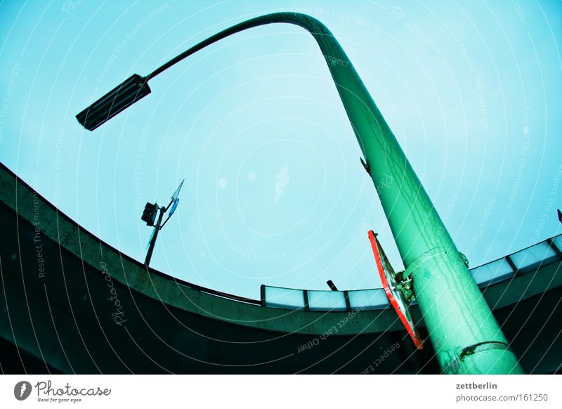 subversion Lamp Arch Archway Curve Bridge Blue Sky Signs and labeling