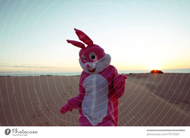 Desert, what's up? Art Esthetic Hare & Rabbit & Bunny Easter Hare ears Rabbit's foot Pink Sky Costume Ear Joy Comical Funster The fun-loving society Dance