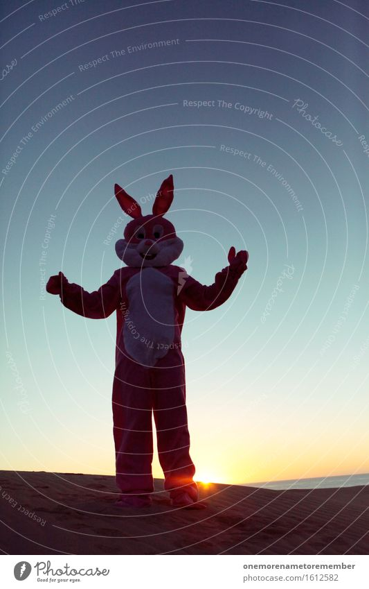 relaxed rabbit Art Work of art Esthetic Hare & Rabbit & Bunny Hare ears Rabbit's foot Creativity Costume Joy Exceptional Colour photo Multicoloured