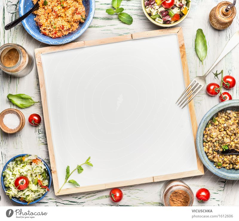 Healthy Eating Life Style Food Design Nutrition Table Herbs and spices Vegetable Organic produce Grain Restaurant Bar Bowl Vegetarian diet Dinner