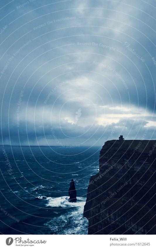 Nature Ocean Landscape Clouds Far-off places Environment Coast Freedom Rock Tourism Waves Wind Trip Threat Adventure Storm