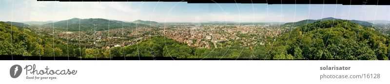 freiburg in beautiful breisgau Panorama (View) Europe Freiburg im Breisgau stitch Large Panorama (Format)