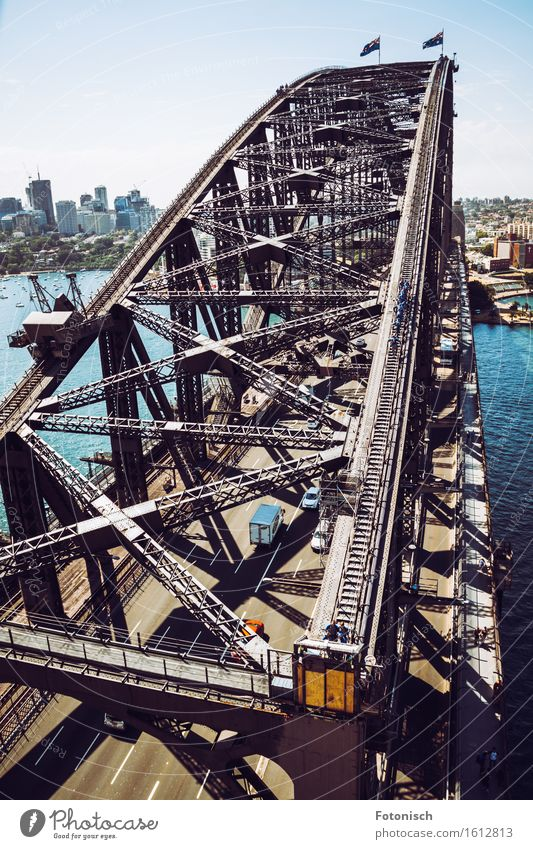 Harbour Bridge Sydney Water Australia Australia + Oceania Port City Deserted Manmade structures Building Architecture Tourist Attraction Landmark