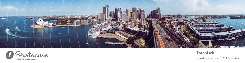 Port of Sydney Panorama Architecture Opera house Water Australia Australia + Oceania Town Port City Downtown High-rise Bank building Harbour Tourist Attraction