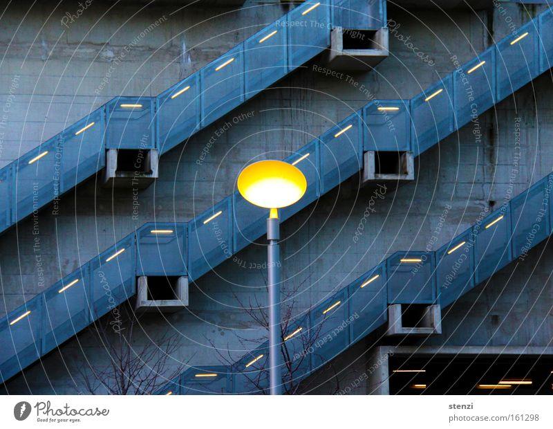 staircase light Twilight Light Moody Diagonal Upward Lantern Architecture Stairs