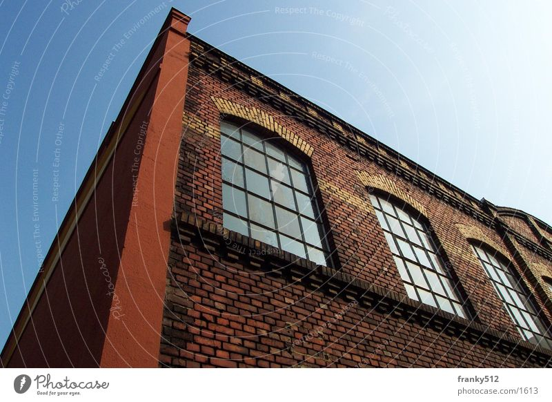 factory hall Factory House (Residential Structure) Facade Architecture brickwork Old