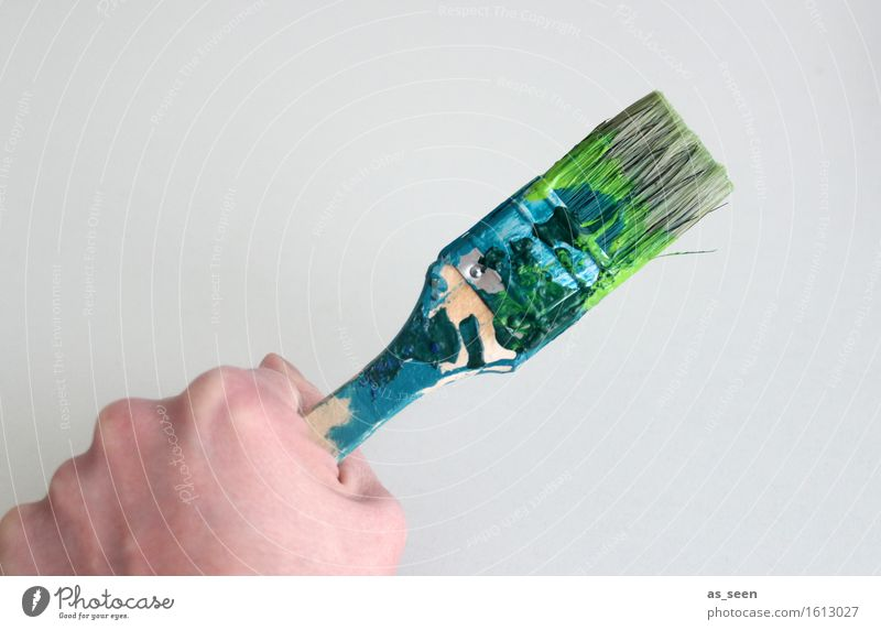 There's always something to do! Tool Hand Art Artist Painter Work of art Painting and drawing (object) Paintbrush Brush stroke Bristles To hold on