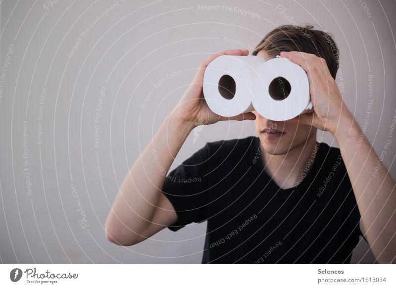 Human being Man Adults Masculine Observe Discover Binoculars Spy Informer