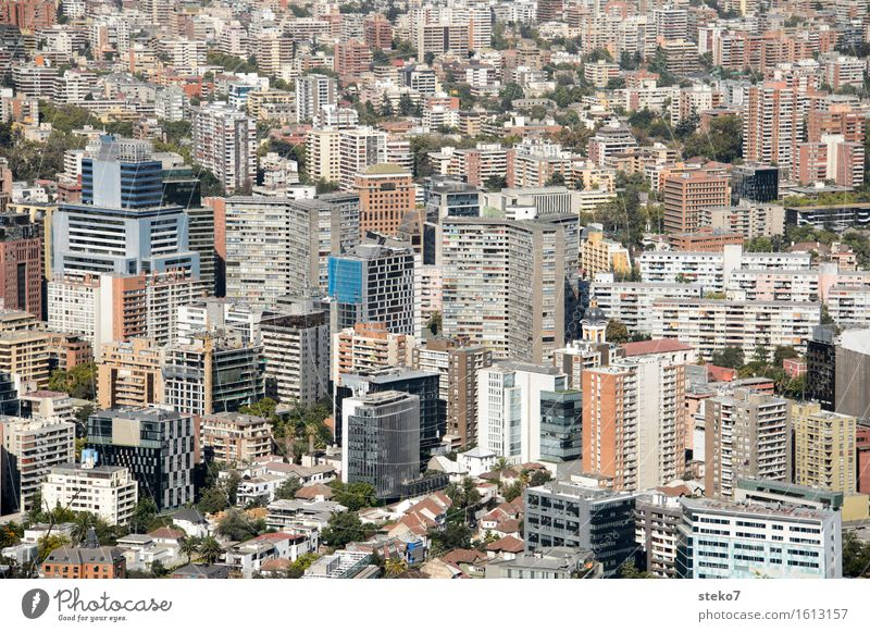 Santiago de Chile South America Capital city Downtown Populated High-rise Architecture Sharp-edged Tall Town Narrow Urban canyon agglomeration Exterior shot