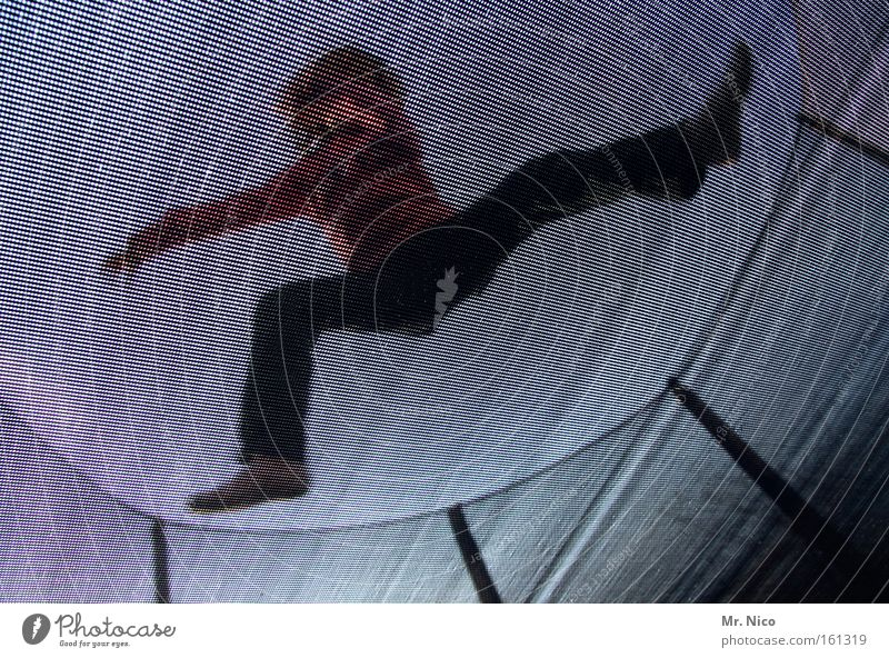 kamikaze Jump Karate Erratic Trampoline Net Dynamics Power Action Catching net Security of supply Joy Funsport Fitness Sports Playing fun Exterior shot