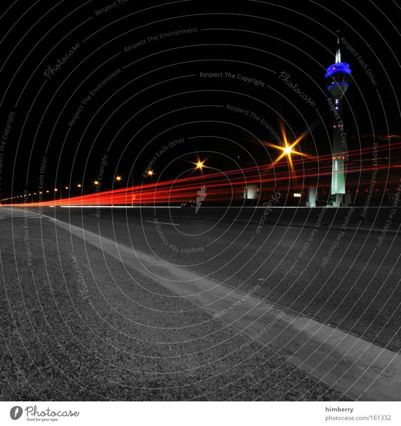 City Street Movement Lanes & trails Motion blur Lighting Road traffic Design Large Transport Speed Bridge Cool (slang) Logistics Tower Exceptional