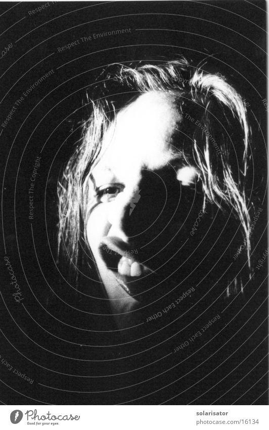 Woman Beautiful White Dark Long-haired Snapshot Monster Old fogey