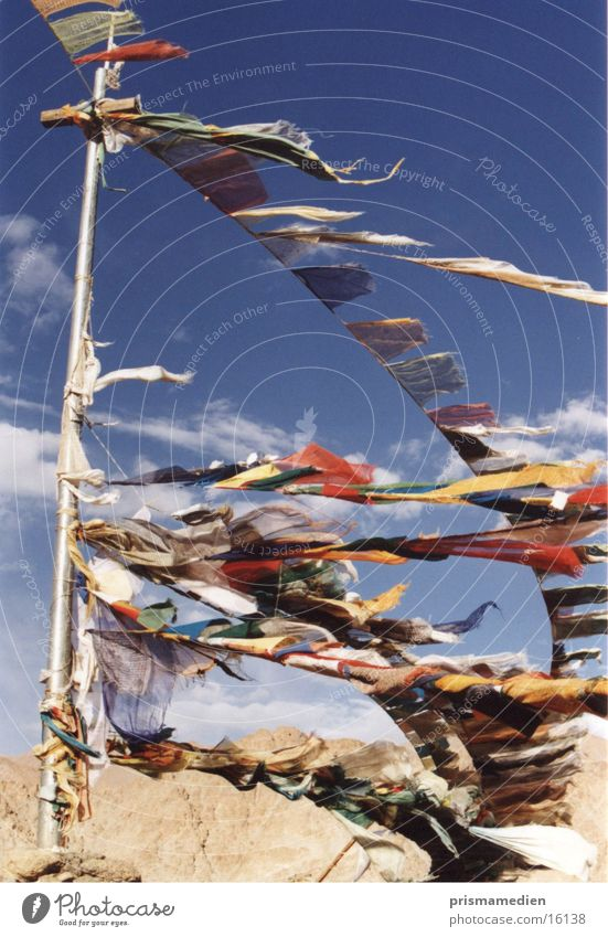 Religion and faith Flag Tradition Buddhism Tibet Spirituality Prayer flags