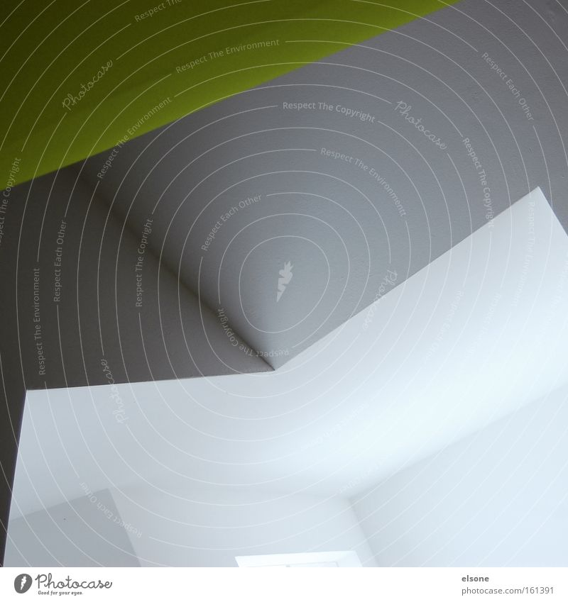 White Green Colour Gray Line Modern Interior design Illustration Geometry Exhibition Graphic Minimalistic