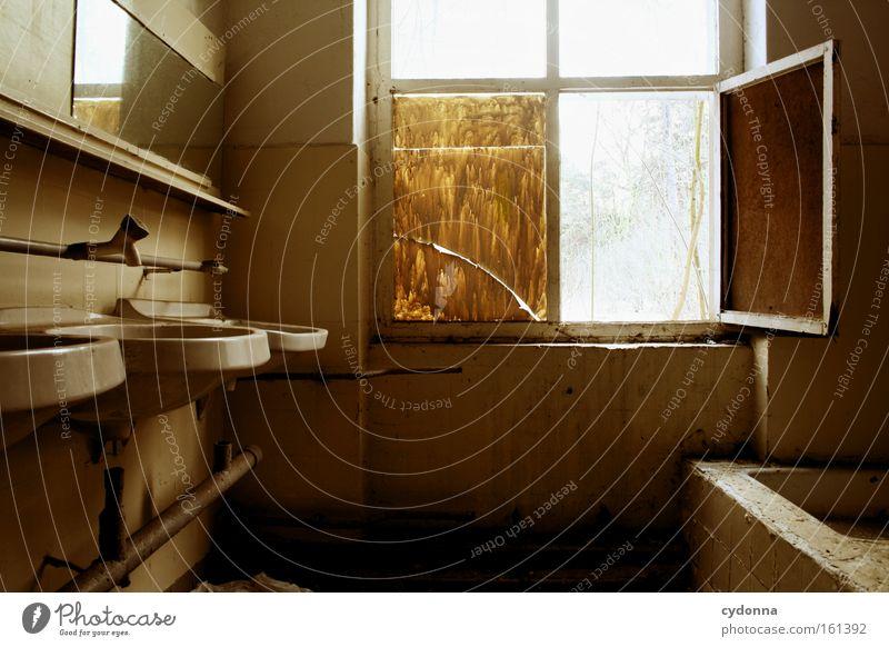 Old Life Window Time Room Transience Clean Bathroom Derelict Mirror Decline Destruction Location Memory Sink Vacancy