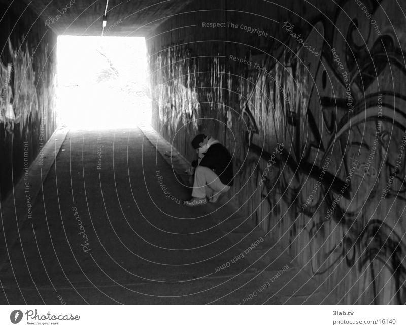 u-turn pix_2 Think Tunnel Man Human being Sadness