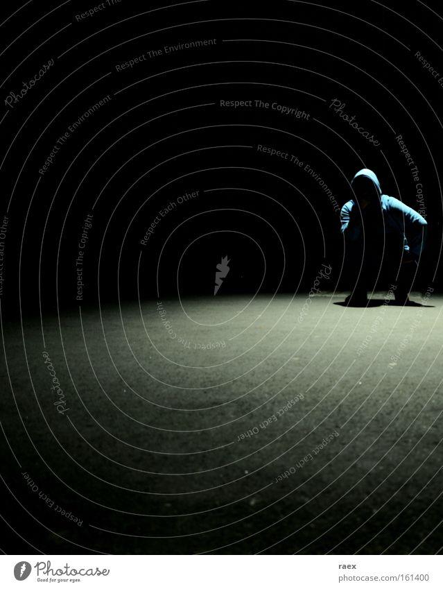 Man Loneliness Dark Sadness Bright Grief Shadow Pain Meditative Distress Crouching
