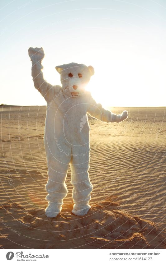 Ice cream Ice cream Baby I Art Work of art Esthetic Polar Bear Desert Costume Disguised Joy Comical Funster The fun-loving society Dance Party mood Sunbeam