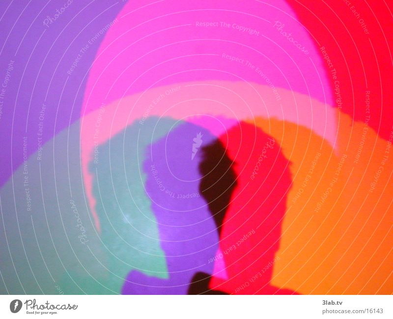 head in colour spectrum Light Man Colour Head Shadow Reaction
