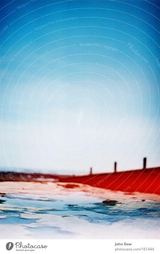 Blue Water Summer Ocean Coast Natural Wet Bay Analog Surrealism Vignetting Great Britain Red undertone