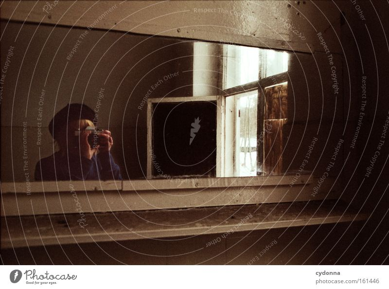 Woman Human being Life Window Room Time Camera Transience Mirror Analog Derelict Decline Memory Location Vacancy Washhouse