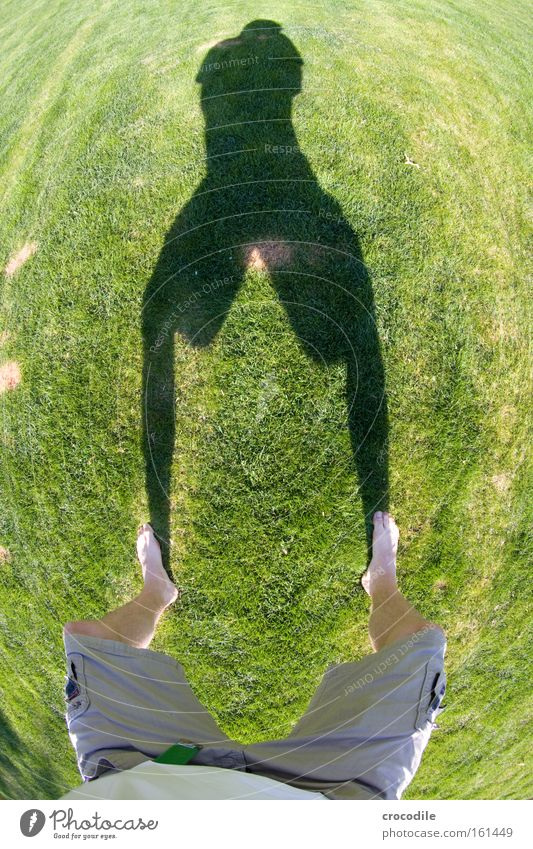 Summer Joy Grass Feet Legs Lawn T-shirt Round Patch Shorts Barefoot Speckled Fisheye Burnt Vaulting Crouching