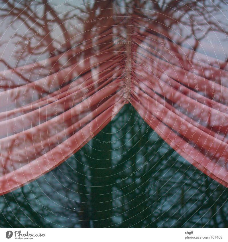 Tree Retro Communicate Living room Drape Arch Pane