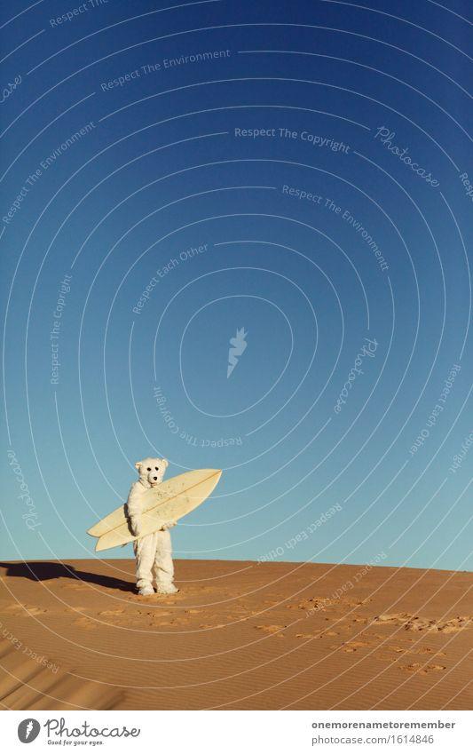 Game On! Art Work of art Esthetic Polar Bear Costume Ogre Monstrous Surfing Surfer Surfboard Surf school Stupid Exceptional Lost Irritation Desert Sand Dune