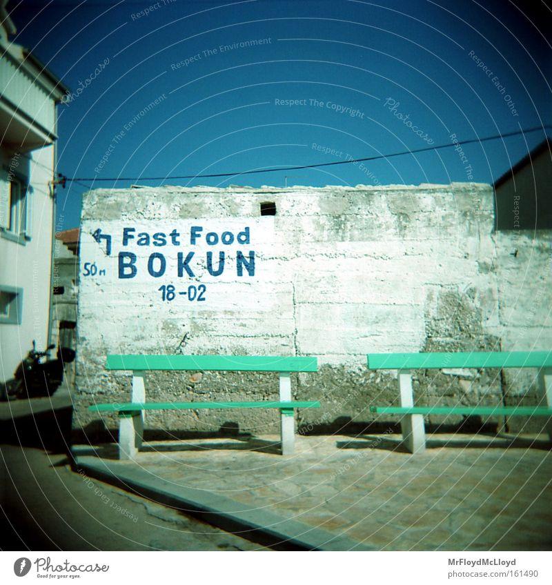 o.t. Holga Lomography Blue Cyan Mediterranean Vacation & Travel Fast food vignetting holidays