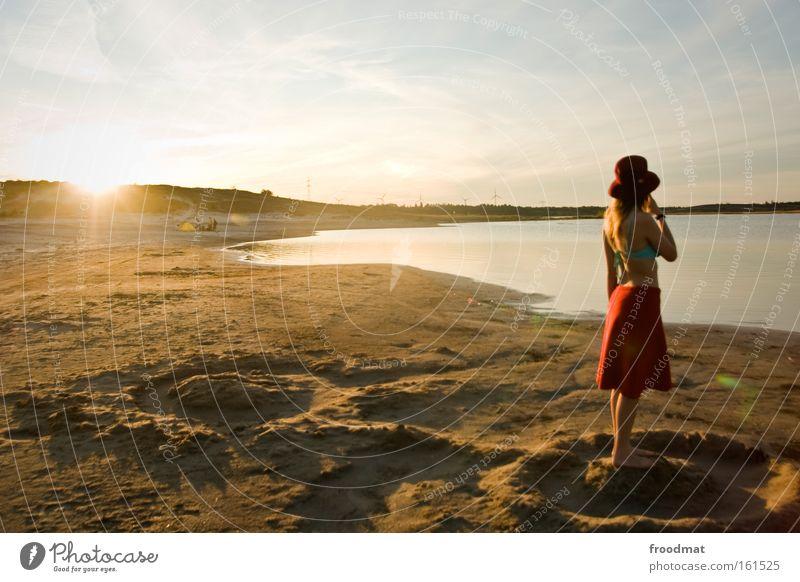 Woman Beautiful Sun Summer Beach Warmth Sand Blonde Romance Hot Hat Bikini