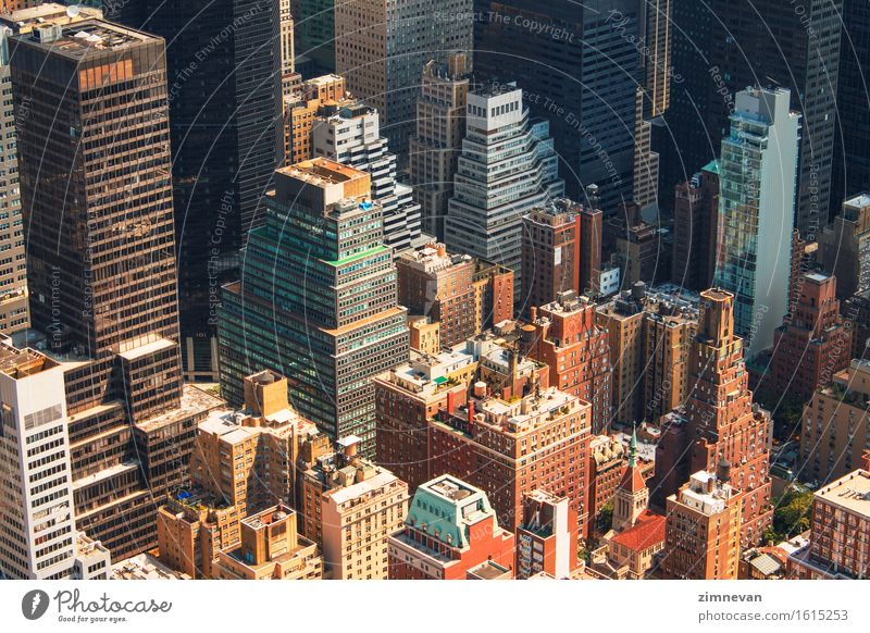 New York City Manhattan skyline aerial view Vacation & Travel Summer Architecture Building Business Tourism Office High-rise Historic USA Skyline