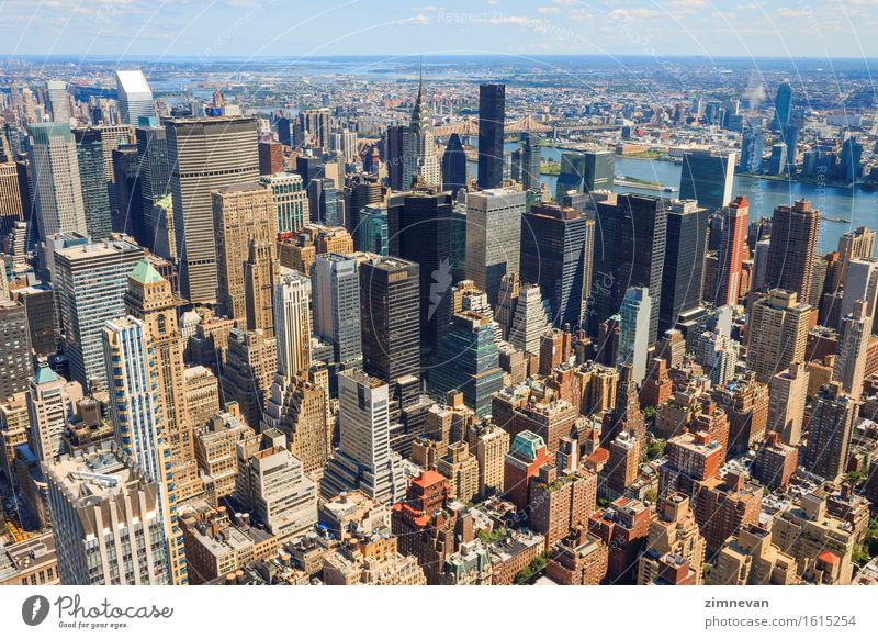 New York City Manhattan skyline aerial view Vacation & Travel Tourism Office Business Town Downtown Skyline High-rise Building Architecture Street Aircraft