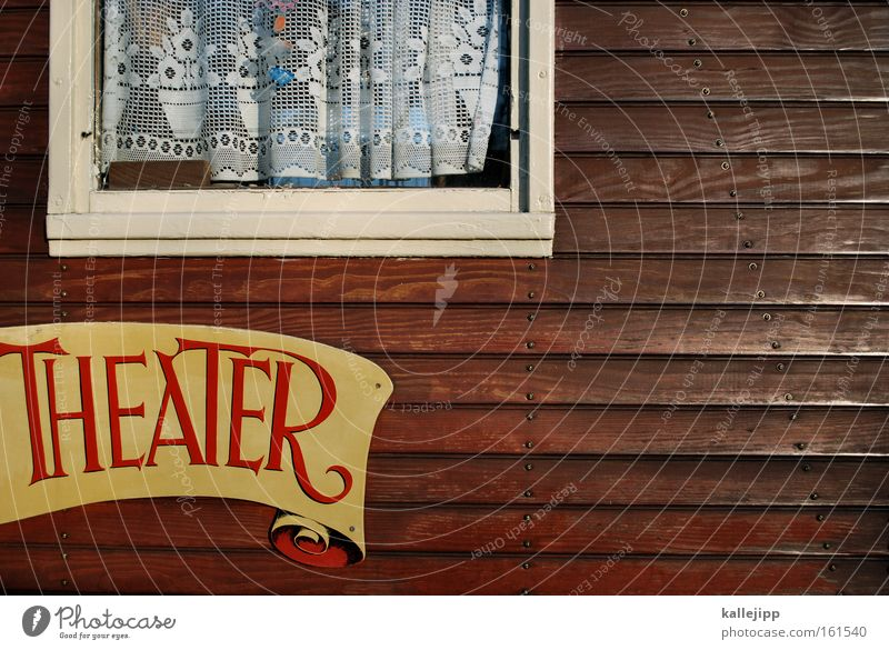 House (Residential Structure) Window Wood Art Signs and labeling Culture Shows Theatre Entrance Drape Circus Carriage Wooden wall Actor Banderole