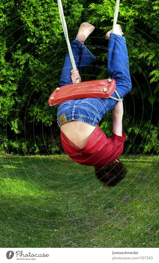 upside down Boy (child) Child Infancy Wild Swing To swing Climbing Acrobat Playing Movement Healthy lousejunge Juttas snail Youth (Young adults)