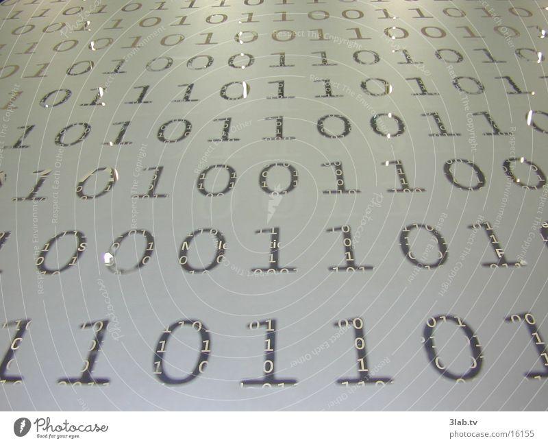binary conspiracy Password Binary code CeBIT Close-up Glas facade Reaction