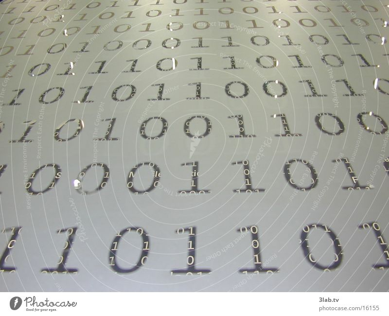 Digits and numbers Reaction Password Technology Glas facade CeBIT Binary code