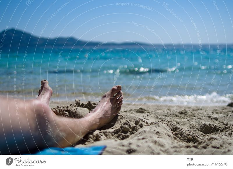 Human being Vacation & Travel Man Summer Sun Ocean Relaxation Beach Cold Adults Healthy Legs Freedom Feet Masculine Tourism