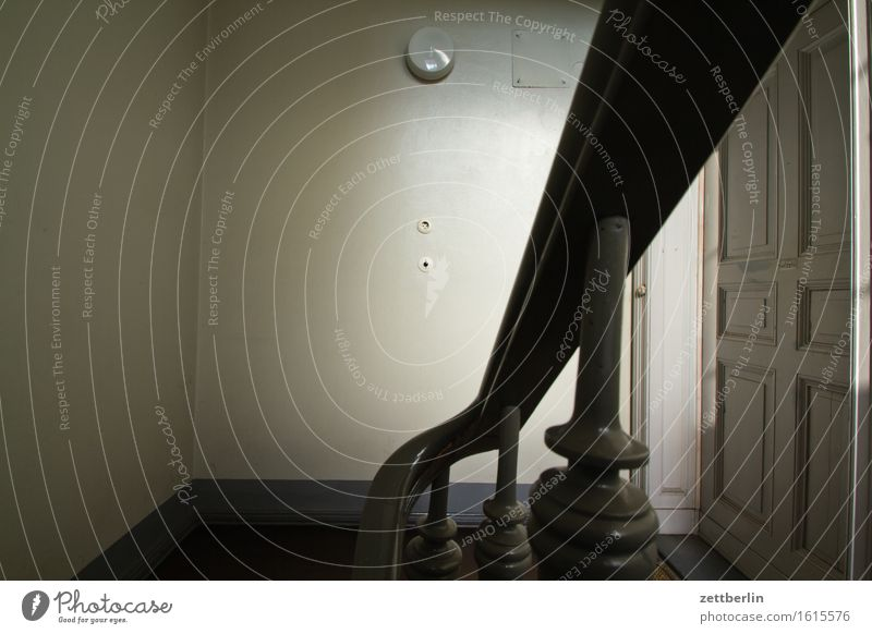 City House (Residential Structure) Dark Lamp Flat (apartment) City life Stairs Living or residing Copy Space Door Gloomy Handrail Apartment Building