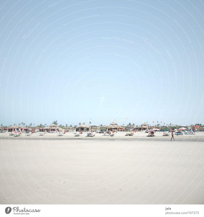 Human being Water Ocean Blue Beach Vacation & Travel Sand Bright Coast Travel photography Hut Sunshade India Palm tree Deckchair