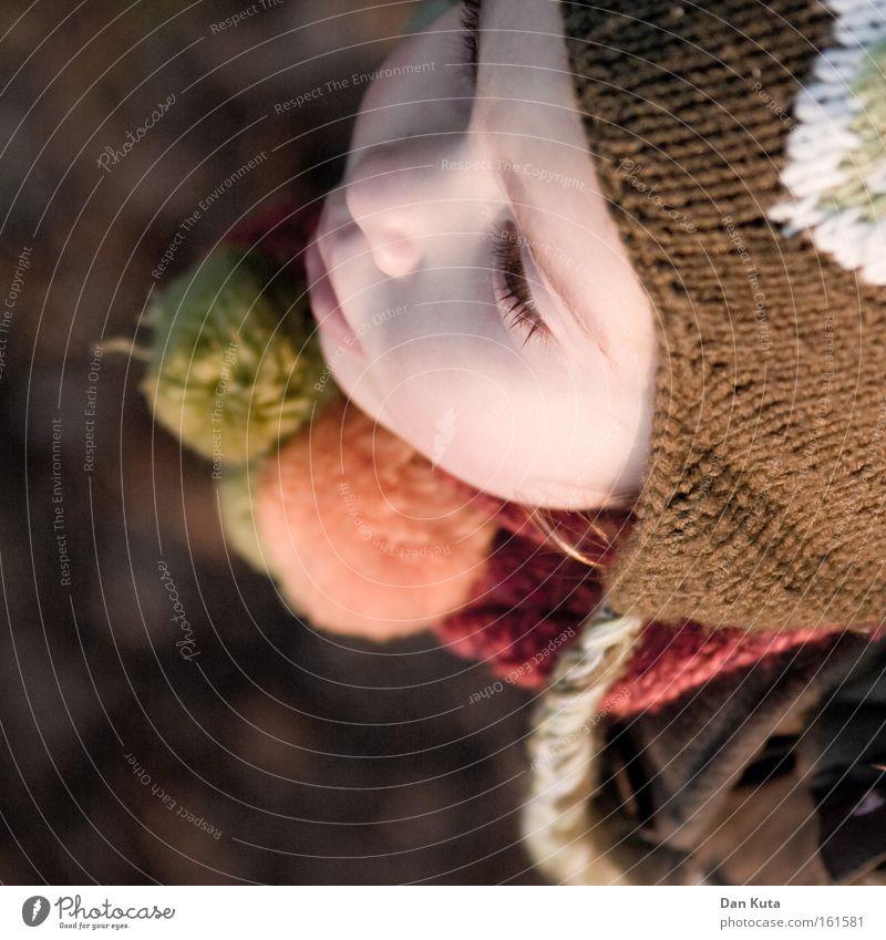Child Girl Cold Autumn Sweet Soft Switzerland Cute Cap Toddler Knit Tuft